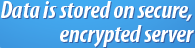 Data is stored on secure, encrypted server